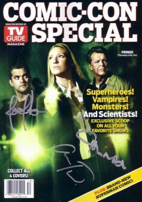 Joshua Jackson John Noble Anna Torv autographed Fringe 2010 TV Guide