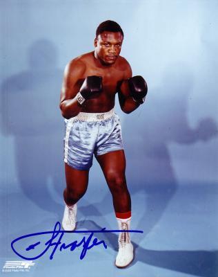Joe Frazier autographed 8x10 boxing photo