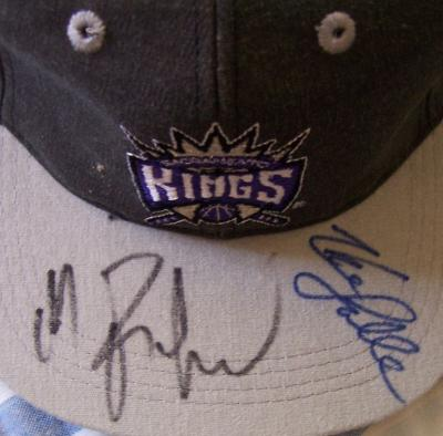 Mitch Richmond & LaSalle Thompson autographed Sacramento Kings cap
