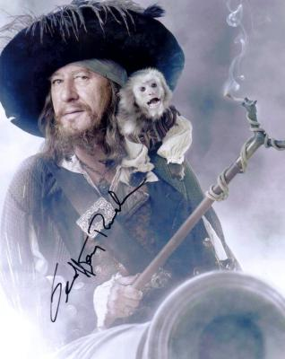 Geoffrey Rush autographed 8x10 Pirates of the Carribean Barbossa photo