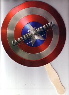 Captain America movie 2011 Comic-Con promo shield fan MINT