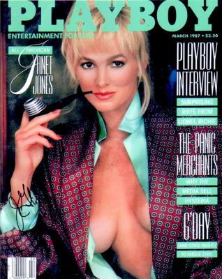 Janet Jones Gretzky autographed 1987 Playboy cover 8x10 photo