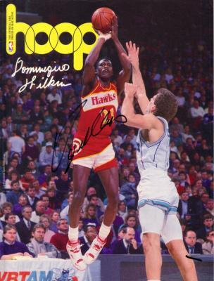 Dominique Wilkins autographed Atlanta Hawks 1990 NBA Hoop program
