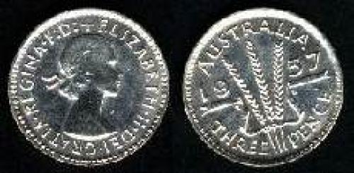 3 pence; Year: 1955-1964; (km 57)