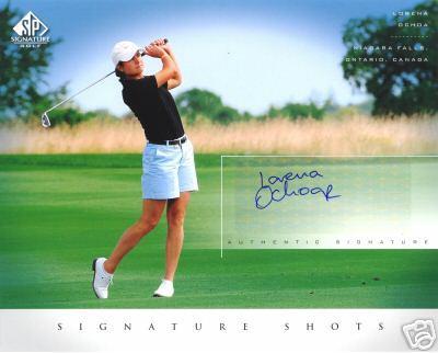 Lorena Ochoa certified autograph 2004 SP Signature 8x10 photo card