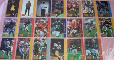 1993 Pro Line LP 20 card insert set (Troy Aikman Marcus Allen Jerome Bettis Brett Favre)