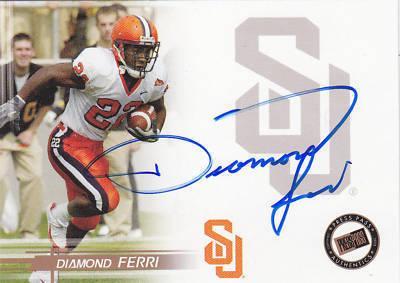 Diamond Ferri certified autograph Syracuse 2005 Press Pass card