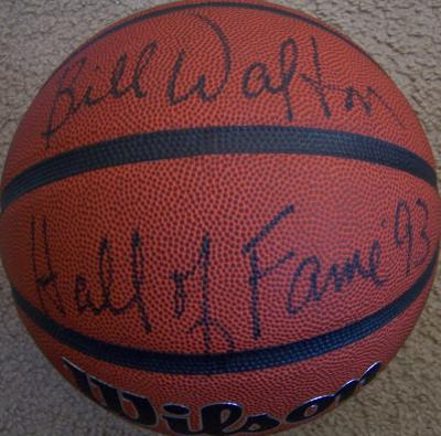 Bill Walton autographed NCAA basketball inscribed Hall of Fame '93