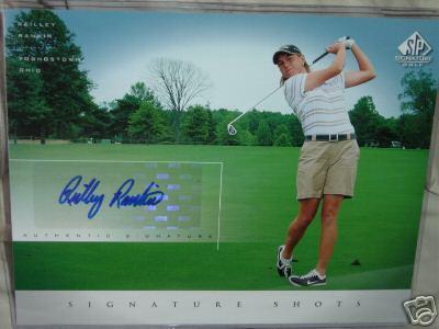 Reilley Rankin (LPGA) certified autograph 2004 SP Signature Golf 8x10 photo card