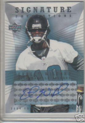 Ernest Wilford certified autograph Jacksonville Jaguars 2004 Upper Deck card