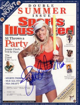 Jennie Finch autographed 2005 Sports Illustrated