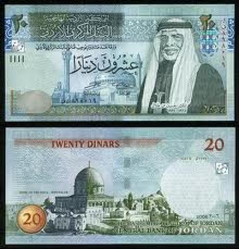 Banknotes; banknote; 20 jordandinar