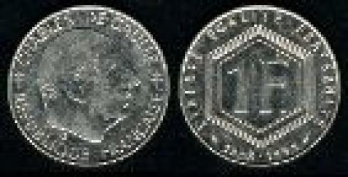 1 franc; Year: 1988; (km 963); Charles de Gaulle