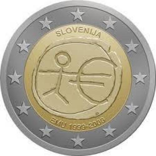 Coins; Slovenia 2009 EMU - 2€ commemorative coin