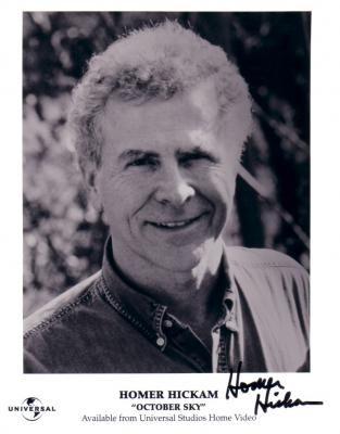 Homer Hickam autographed October Sky 8x10 publicity photo