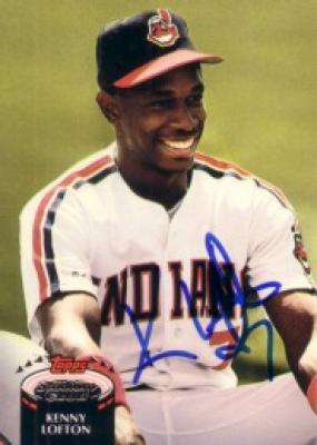 Kenny Lofton autographed Cleveland Indians 1992 Stadium Club card