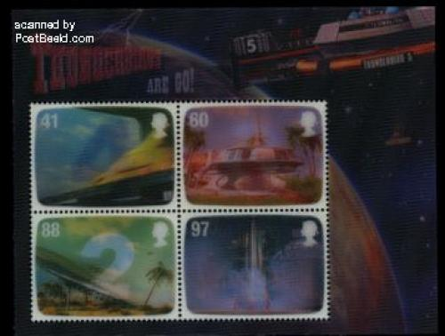 Gerry Anderson, Thunderbirds s/s (3-D stamps)