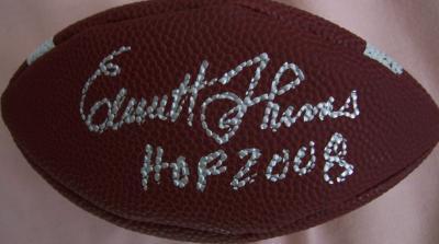 Emmitt Thomas autographed mini football