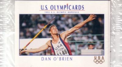 1992 Impel U.S. Olympic Hopefuls promo or prototype 3 card set (Jackie Joyner-Kersee)
