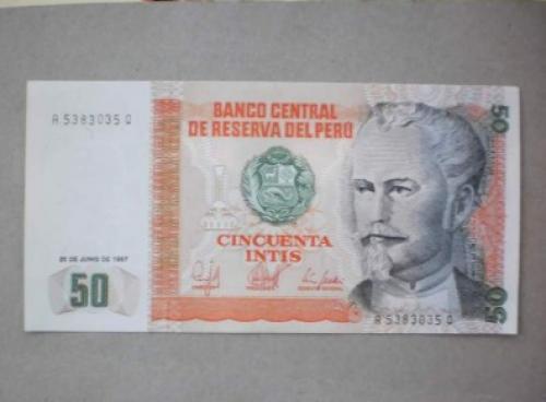 Peru-50 Intis -1987