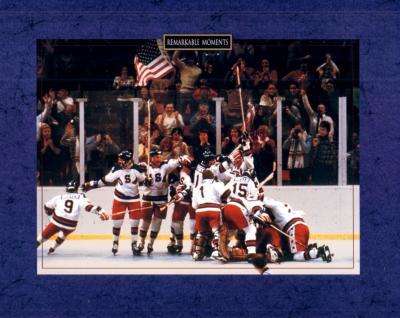 1980 Miracle on Ice U.S. Olympic Hockey team 8x10 celebration photo