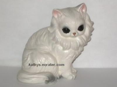 Josef Originals Japan White Persian Cat Animal Figurine