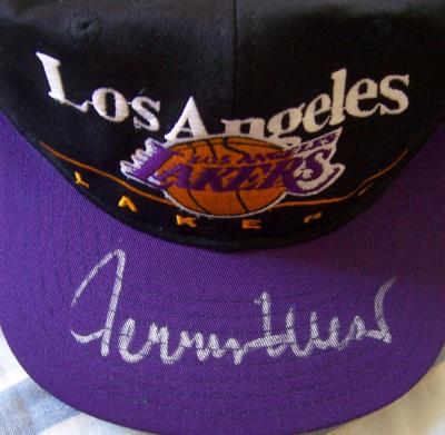 Jerry West autographed Los Angeles Lakers cap or hat