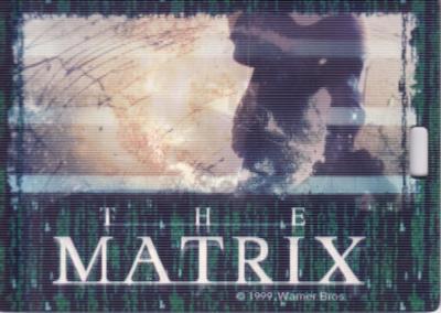 The Matrix movie 1999 jumbo 3.5x5 inch motion promo card or badge