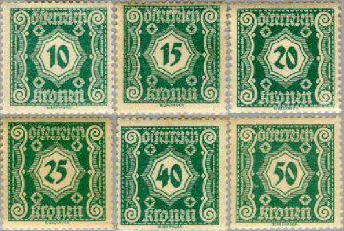 Postage due 6v; Year Issue: 1922
