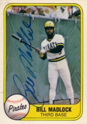Bill Madlock autographed Pittsburgh Pirates 1981 Fleer card