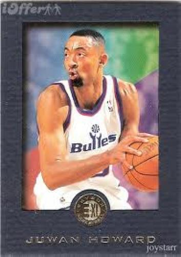 Basketball Card; 1995-96 E-Xl Blue #88 Juwan Howard ( Basketball Card) Bullets