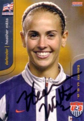 Heather Mitts autographed 2004 U.S. Soccer card