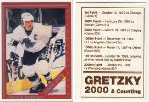 Wayne Gretzky Hockey Card~ 2000 Points~
