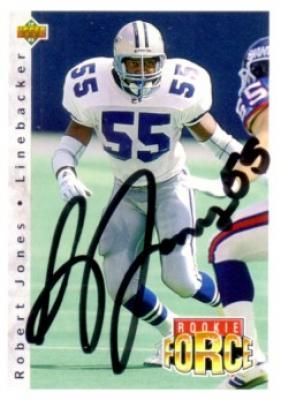Robert Jones autographed Dallas Cowboys 1992 Upper Deck card