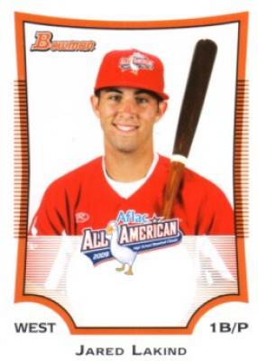 Jared Lakind 2009 AFLAC Bowman Rookie Card