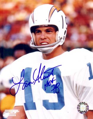 Lance Alworth autographed San Diego Chargers 8x10 portrait photo inscribed HOF 78