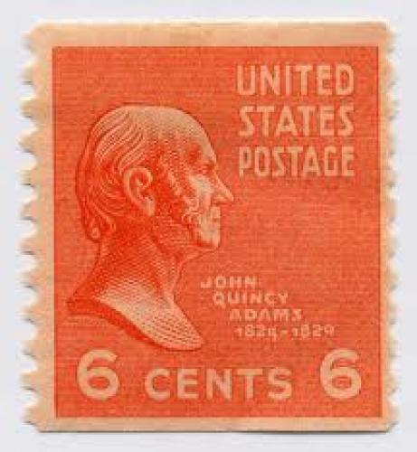 Stamps; Stamp.usa.adams; 6 cents