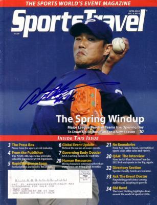 Akinori Otsuka autographed San Diego Padres SportsTravel magazine