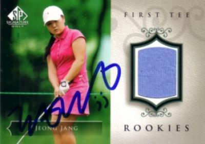 Jeong Jang autographed 2004 SP Signature golf tournament worn shirt card