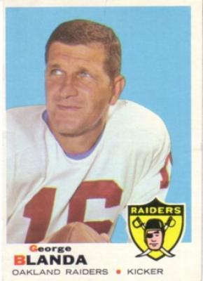 George Blanda 1969 Topps card Ex/ExMt