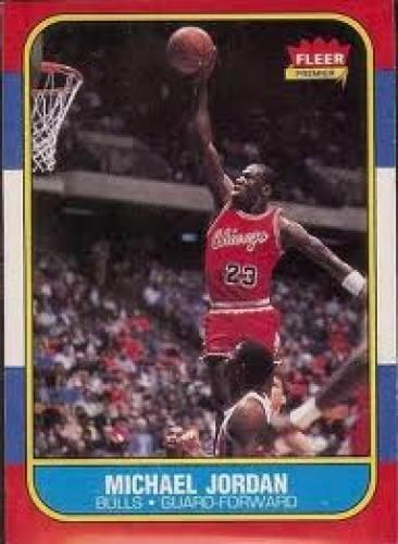 Basketball Card; 1986 Fleer #57 Michael Jordan – The most famous basketball rookie card
