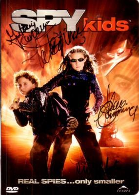 Spy Kids cast autographed DVD insert (Antonio Banderas Teri Hatcher)