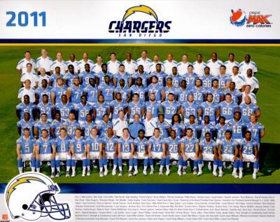 2011 San Diego Chargers 8x10 team photo
