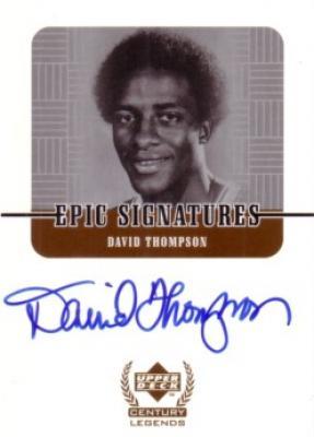 David Thompson certified autograph Upper Deck Century Legends card