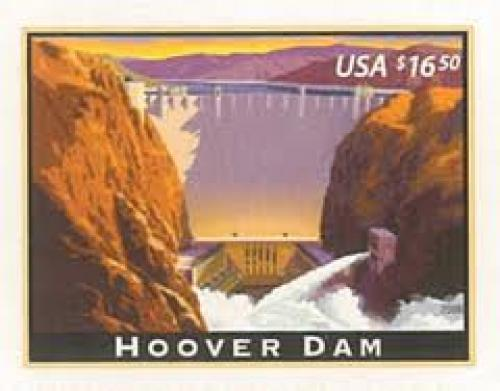 Stamps; USA Stamp, 2008 Hoover Dam Stamp, Place