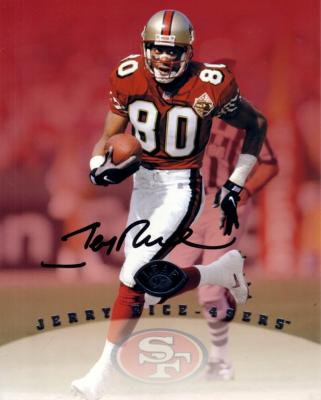 Jerry Rice autographed San Francisco 49ers 8x10 photo card
