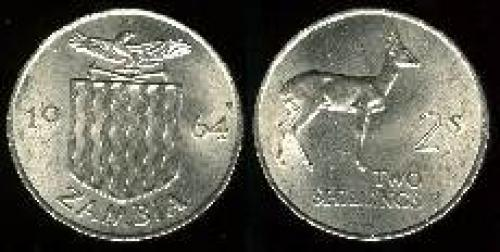2 shillings 1964 (km 3