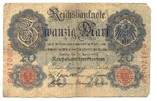 A Bank note from the period world war one.
