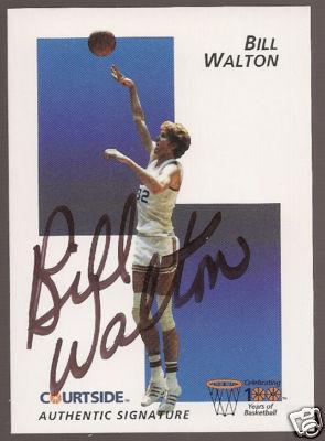 Bill Walton certified autograph UCLA Courtside Flashback card