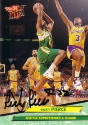 Ricky Pierce autographed Seattle Supersonics 1992-93 Ultra card